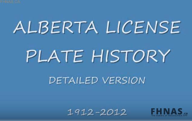 Alberta's 100 Year License Plate History 1912-2012